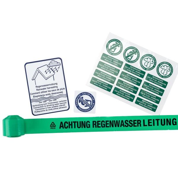 Kennzeichnungs-Set Regenwassernutzung nach DIN 1989